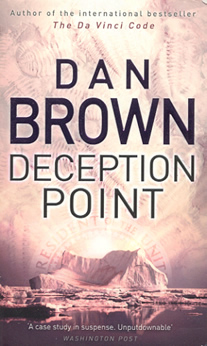 an analysis of the deception point by dan brown Deception point is a book full of facts in the very first page dan brown would have mentioned nasa,nro,sff existsthe detailed explanation of the meteorite never.